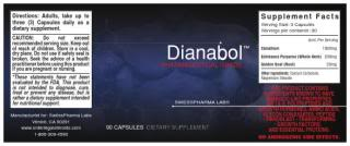 Dianabol supplement label